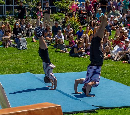 Set three, UMO Circus Arts 1 at Ober Park, Vashon Island Strawberry Festival 2019