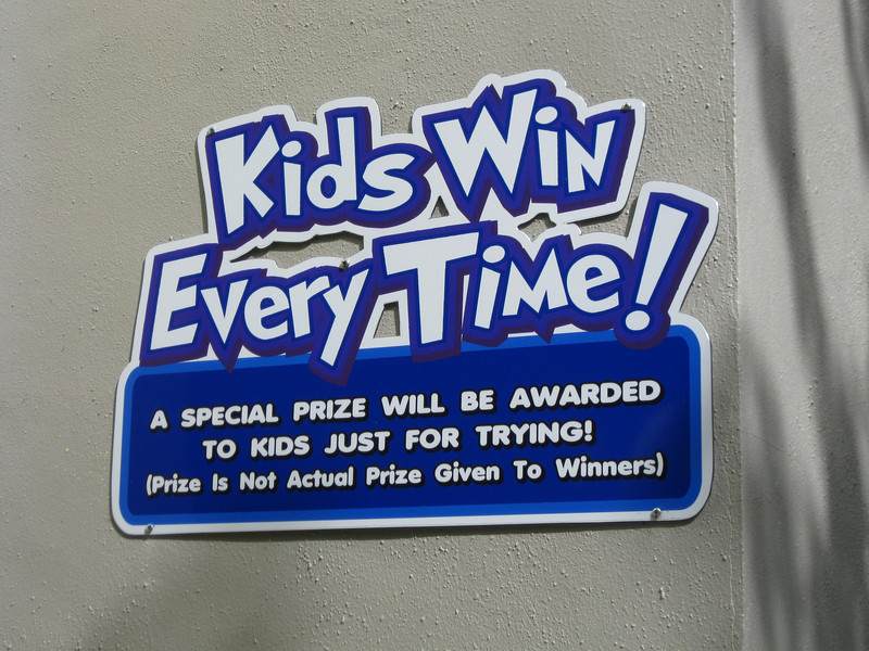 "Some games are now ""Kids win every time""."