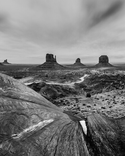 monument valley sunset b&w.JPG