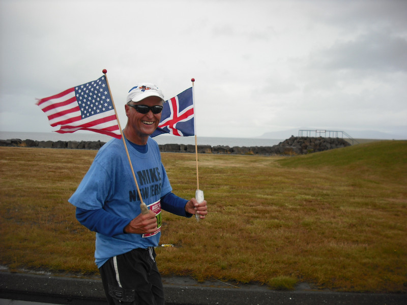 A friend the Attache made during the race.  He's an american doing his 109th marathon!