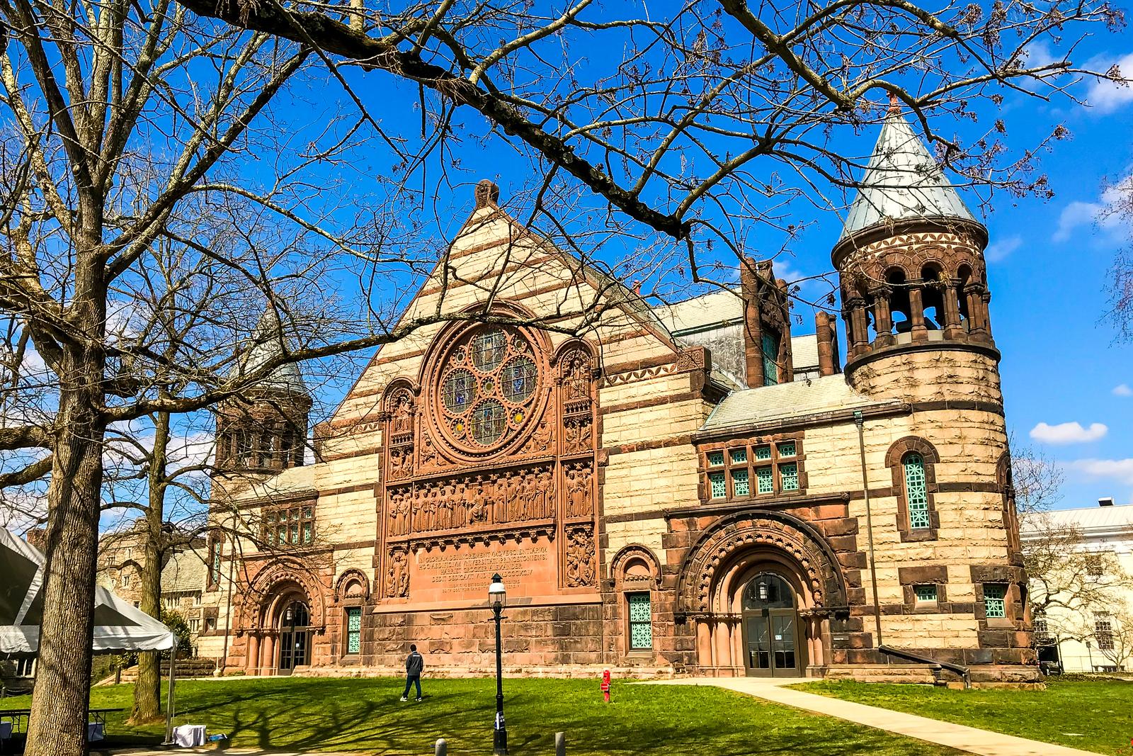 普林斯顿大学,它就是标志性建筑