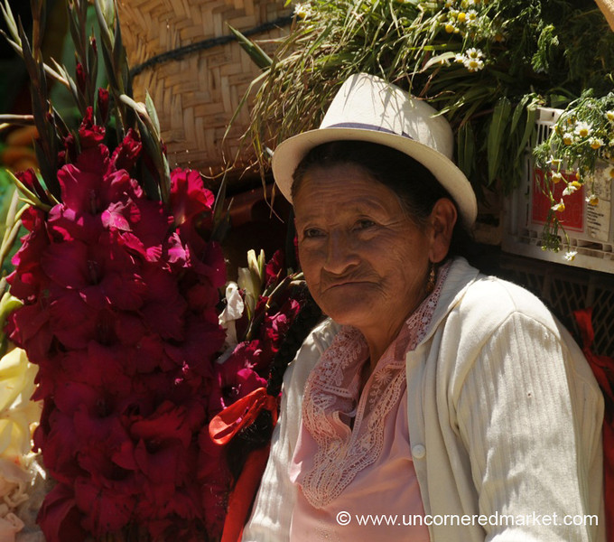 Flower Vendor - Chordeleg, Ecuador