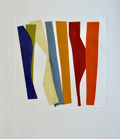 Strip Series II-Mackey, monoprint on 22x30 paper