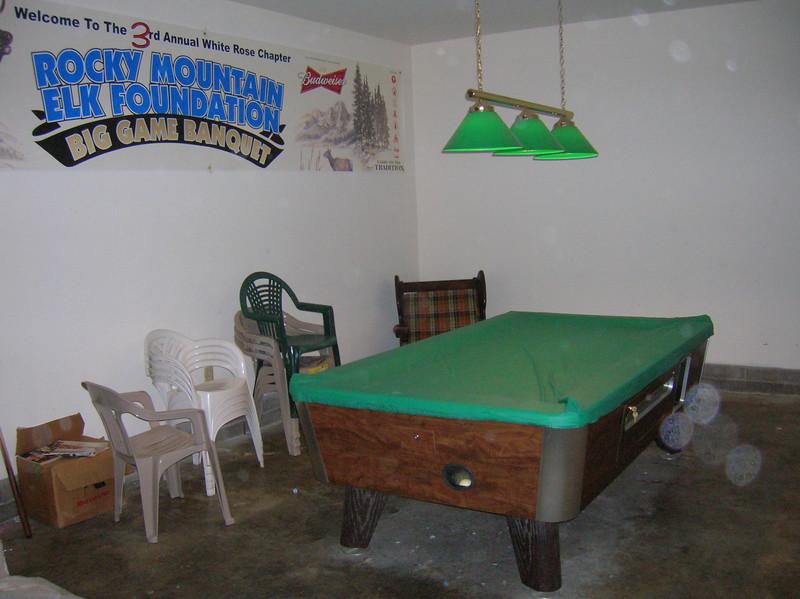 Game room / pool table