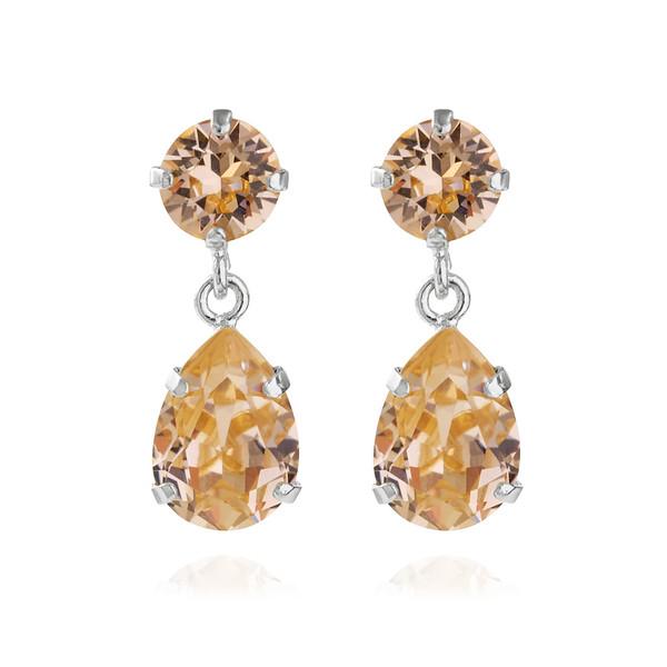 Mini Drop Earrings / Light Peach Rhodium