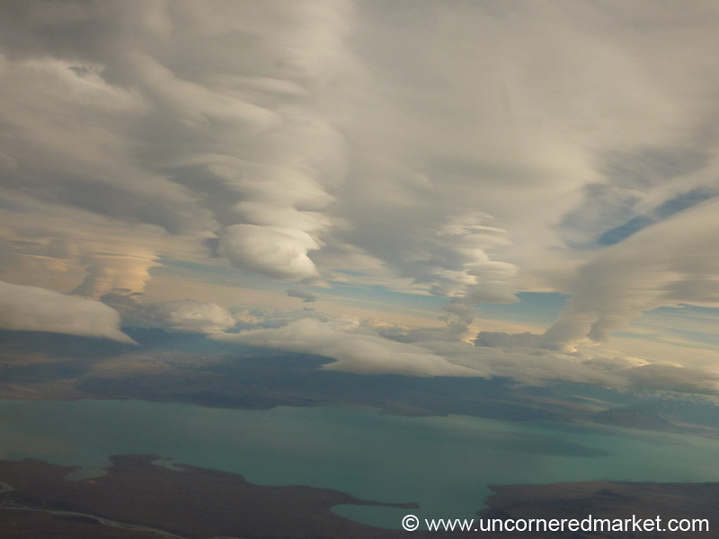 View from the Plane to El Calafate, Argentina