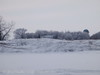 frosty farmstead on the lakeshore
