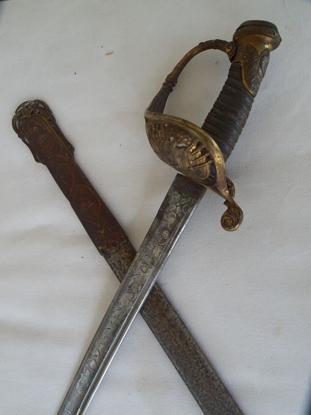 William Wallace's Civil War sword and scabbard.