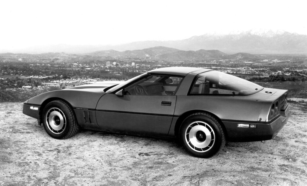 """. 1984 Corvette: The all-new fourth generation Corvette made its debut in April, 1983 and won the Motor Trend \""""Car of the Year\"""" award.  Daily News file photo"""