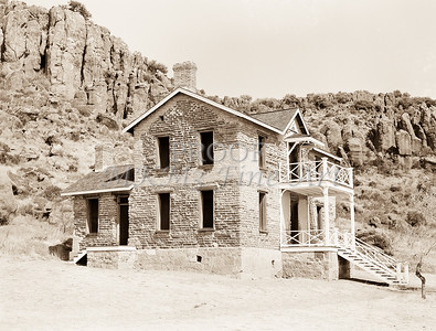 Fort Davis Texas in Antique Black and White