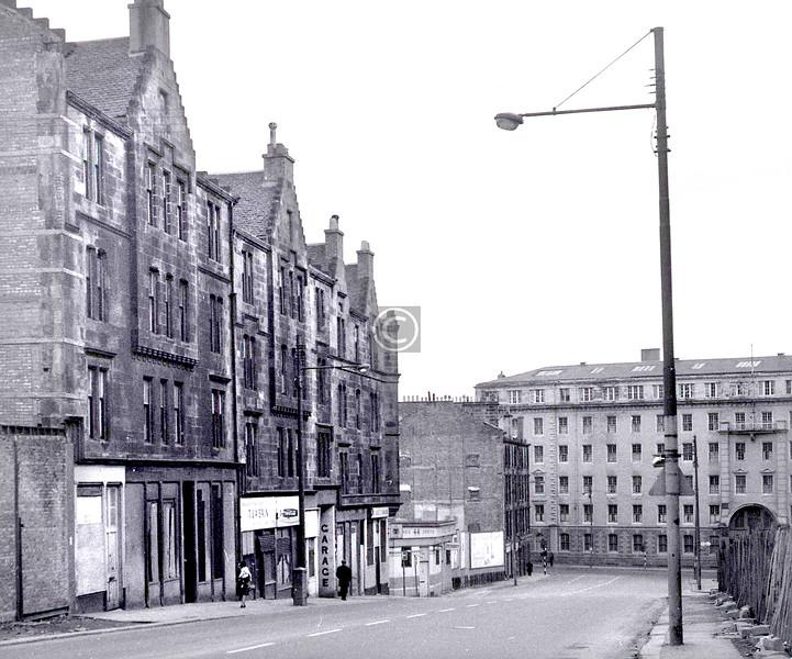 John Knox St, east side above Duke St.    April 1973