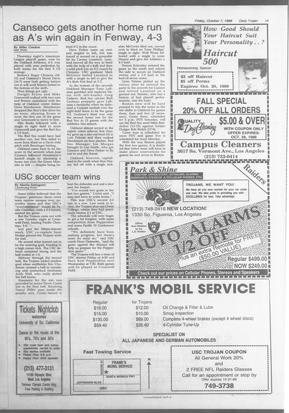 Daily Trojan, Vol. 107, No. 23, October 07, 1988