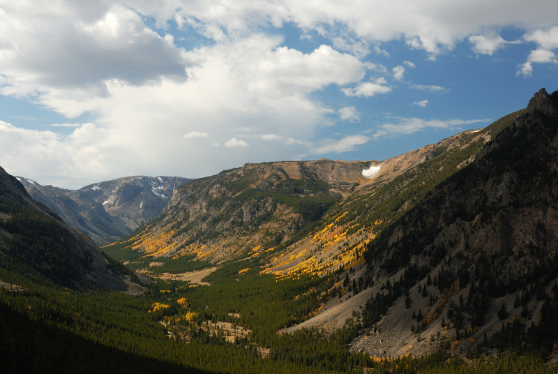 After staying in a National Park campground just south of Red Lodge, MT, I headedup into the Beartooth Mountains on my way to Yellowstone.  This drive has been described as one of the most beautiful drives in all of the United States.  This view literally took my breath away.