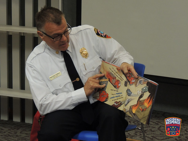 Storytime with Fire Chief Mike Romas