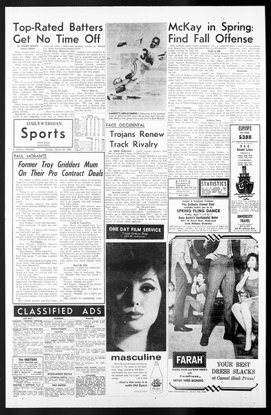 Daily Trojan, Vol. 57, No. 96, March 29, 1966