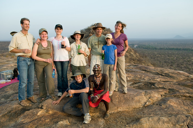 The whole gang at the end of our camel ride and hike