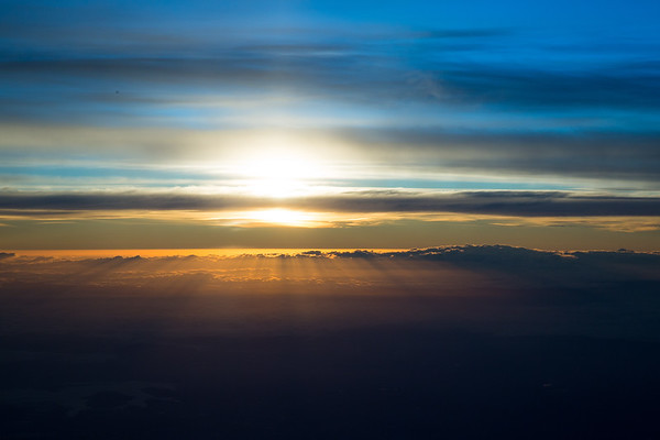 Sunrise by Plane