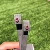 .79ctw Oval Padparadscha Sapphire Bezel Stud Earrings 20