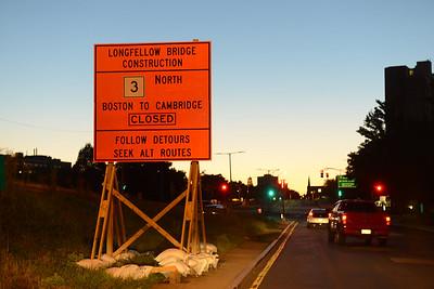 Longfellow Bridge Construction - 08.15.2013