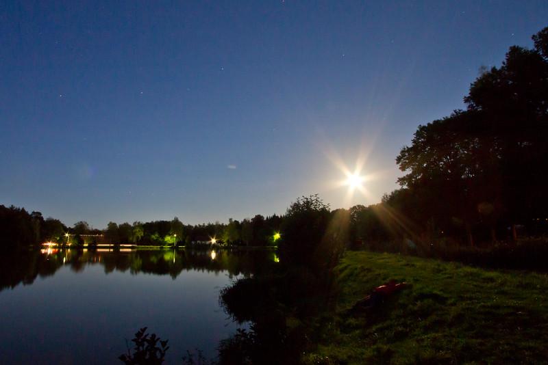Laying Around Moon Rise