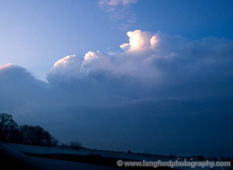OLYMPUS DIGITAL CAMERA  The storm is to our North West and we are making our way towards Gainsville to cetch it.