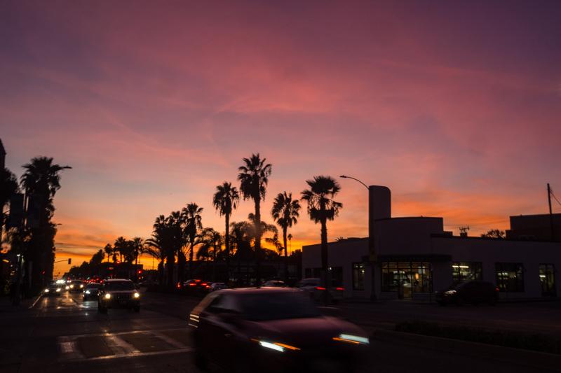 December 16 - Santa Monica sunset over Wilshire Blvd.jpg