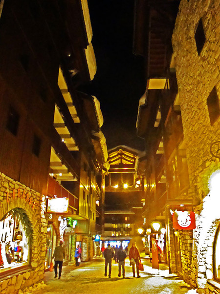 After dark we explored the pretty streets of Val D'Isere.