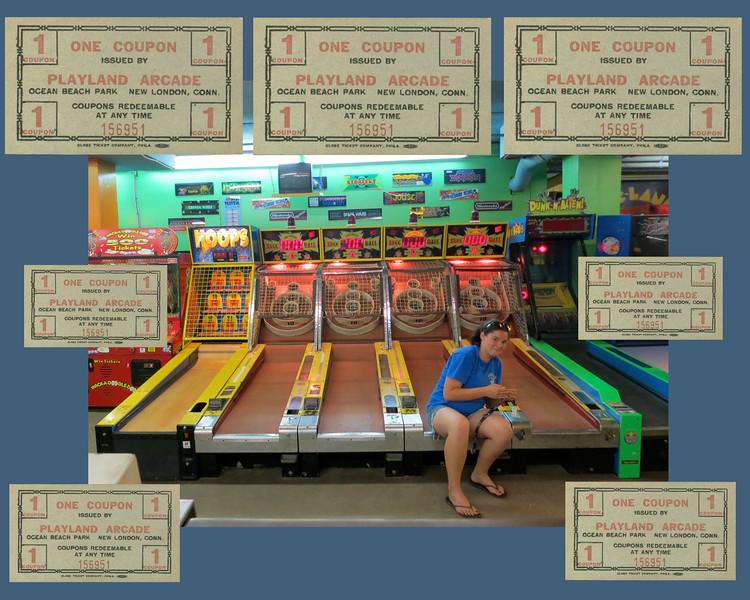 Arcade: Skee Ball at Ocean Beach
