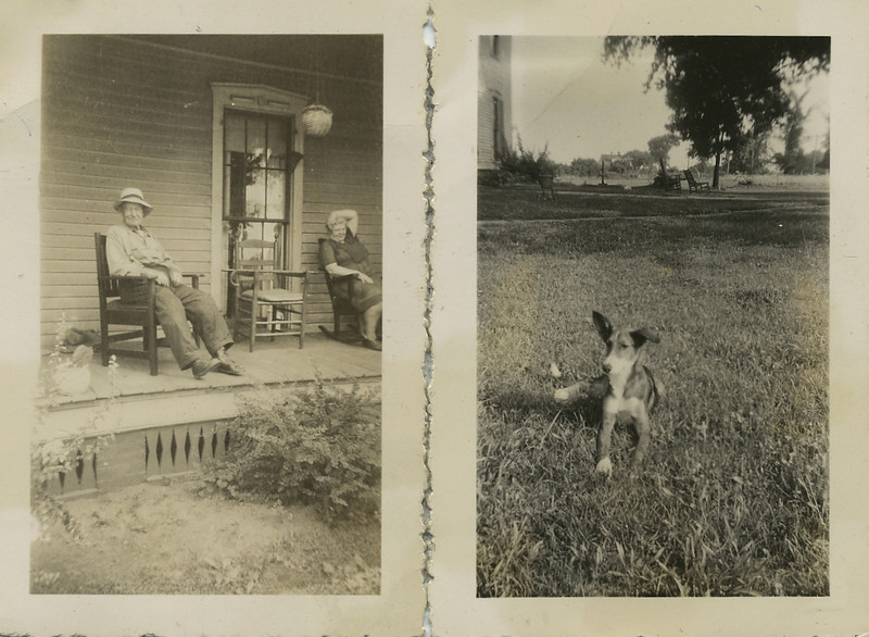 OK Farm, snuffy dog & Granpa Lannin & mother103.jpg