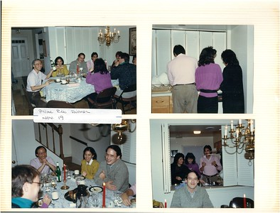 11-19-1988 Prime Rib dinner @ my home