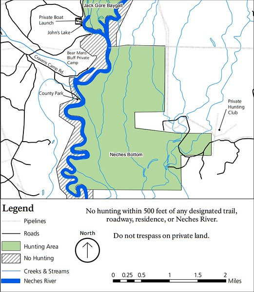 Big Thicket National Preserve (Hunting Areas - Neches Bottom Unit)