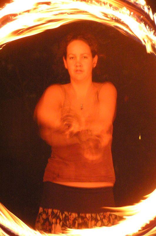 Krishana fire twirling