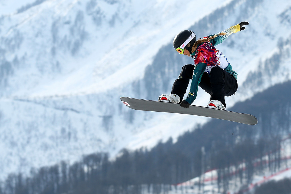 . Torah Bright of Australia during the Ladies\' Snowboard Cross Seeding on day nine of the Sochi 2014 Winter Olympics at Rosa Khutor Extreme Park on February 16, 2014 in Sochi, Russia.  (Photo by Cameron Spencer/Getty Images)