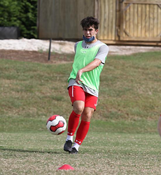 Men's soccer practice 9/28.