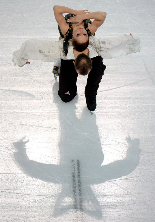. Germany\'s Daniel Wende and Germany\'s Maylin Wende perform their Figure Skating Pairs Free Program at the Iceberg Skating Palace during the Sochi Winter Olympics on February 12, 2014. (YURI KADOBNOV/AFP/Getty Images)