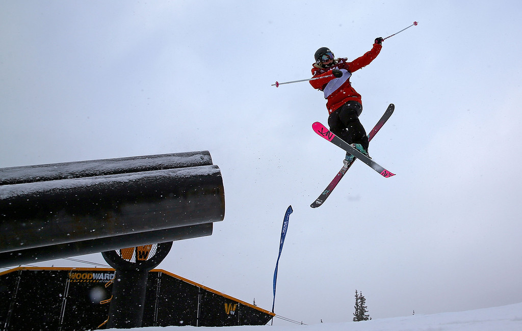 . Anna Segal of Australia competes during qualifying for the women\'s FIS Ski Slopestyle World Cup at U.S. Snowboarding and Freeskiing Grand Prix on December 20, 2013 in Copper Mountain, Colorado.  (Photo by Mike Ehrmann/Getty Images)