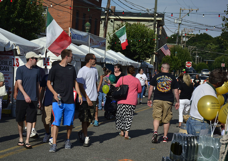 7/24/2015 Mike Orazzi | Staff The Southington Italian-American Festival on Friday evening.