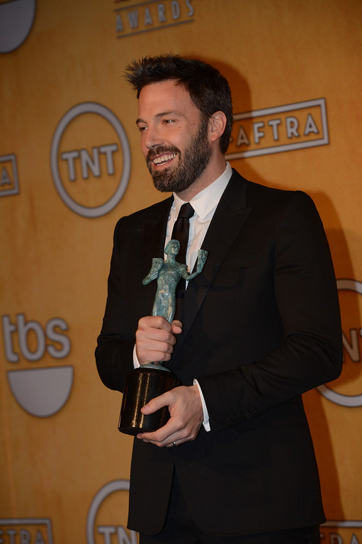 . Ben Affleck backstage at  the 19th Annual Screen Actors Guild Awards at The Shrine Auditorium  in Los Angeles, California on January 27, 2013. (David Crane,L.A. Daily News)