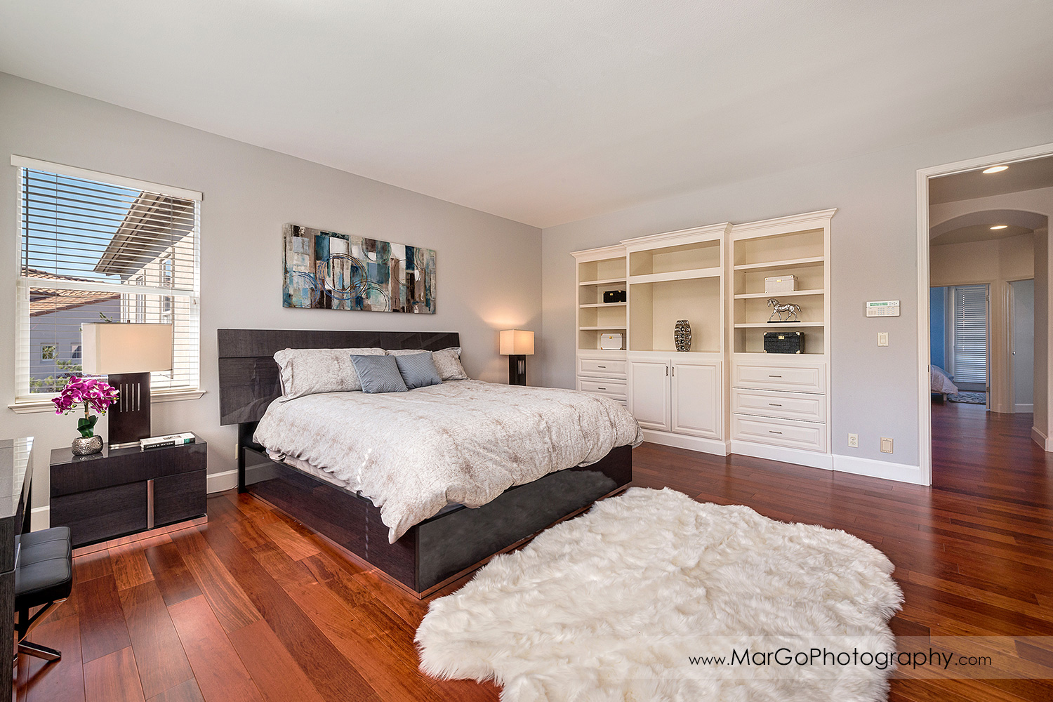 master bedroom in San Ramon house - real estate photography