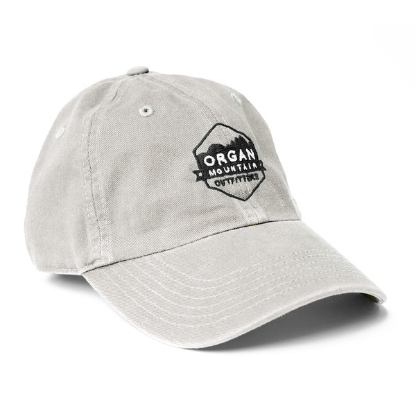 Outdoor Apparel - Organ Mountain Outfitters - Hat - Dad Cap Classic Logo - White.jpg
