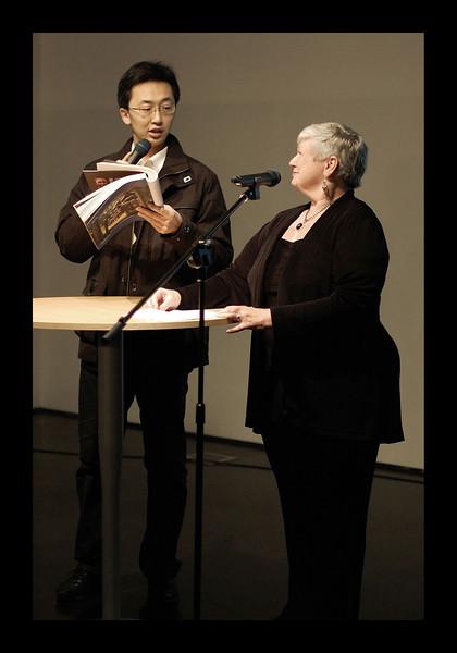H. Reading at Jim's Exhibit - Shanghai - 2009.jpg