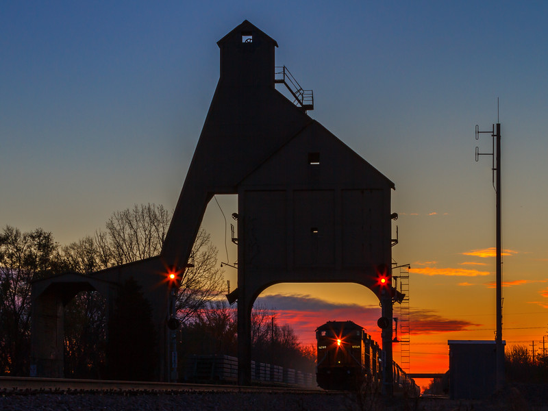 Coaling Tower at Sunrise