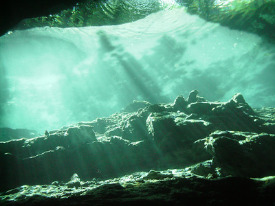 Underwater River - Cenote Diving Mayan Riviera Mexico