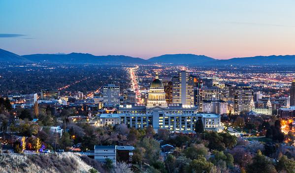Salt Lake Skyline for Jessie Robertson