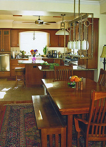 Here's the dining and kitchen area.