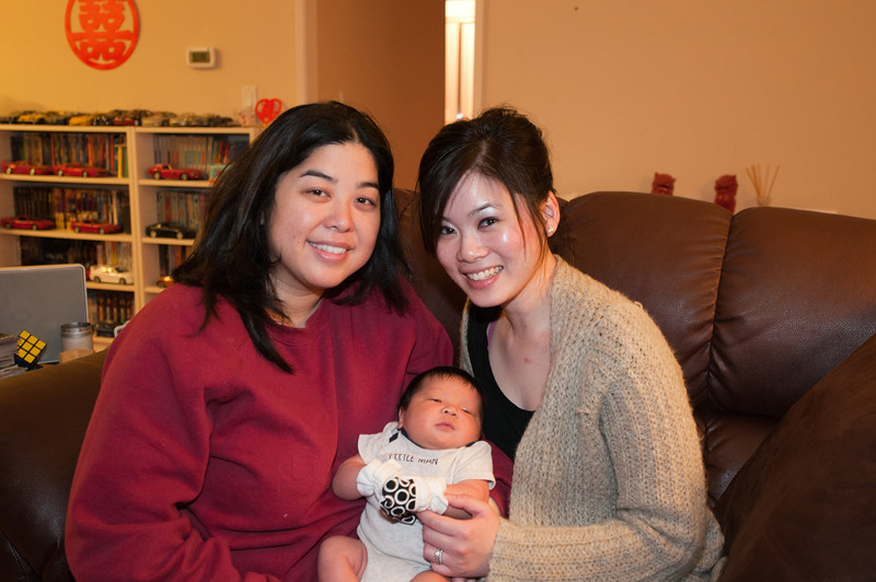 March 30, 2013: Ninang (godmother) Annie came by for a visit.