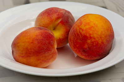 Back yard fruit: Cheries, Peaches and Plums