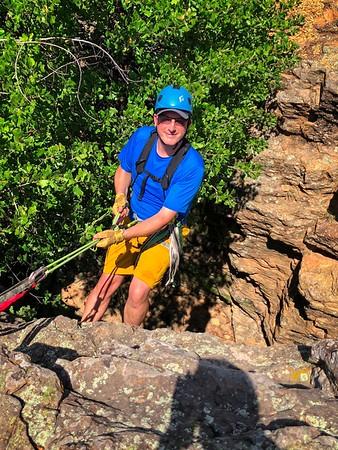 Rock Climbing 9-1-18 Lake Mineral Wells SP