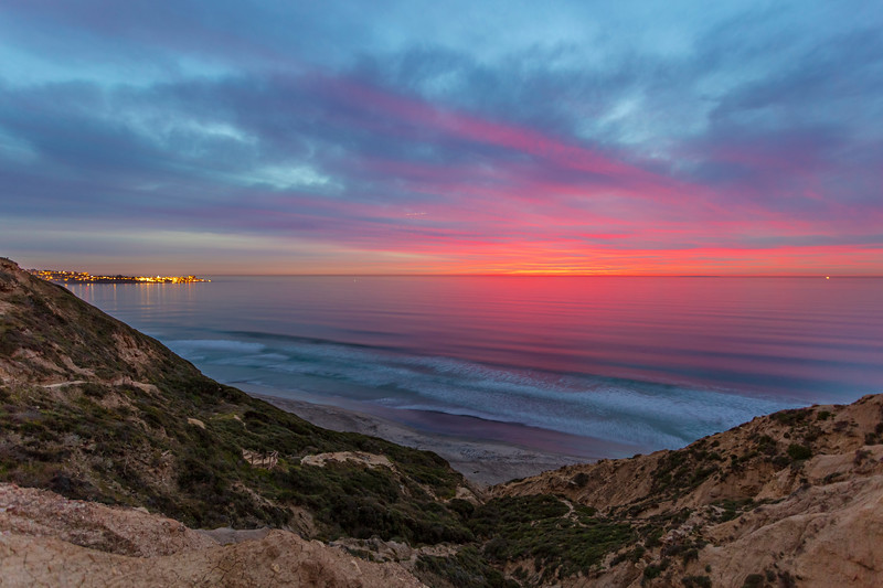 Torrey Pines Gliderport Blue and Pink Sunset. 2 of 4.