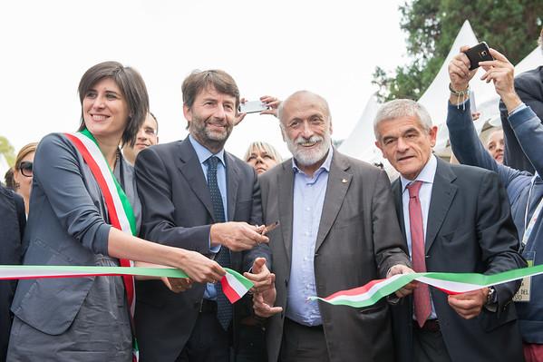 Taglio del nastro con il ministro Franceschini